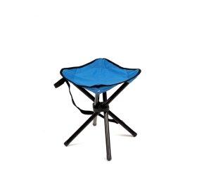 Trikojė žvejybinė kėdutė  RF-FC02M, metalinė, mėlyna 26x28x35cm