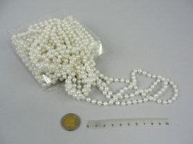 Perlų girlianda, plotis 5 mm., ilgis 9m.