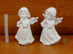Figurėlė ANGELAS, baltos sp., 8 x 13 x 7 cm.