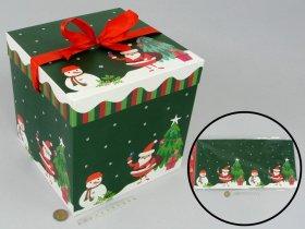 Sulankstoma dovanų dėžutė, 21,5 x 21,5 x 21,5 cm.