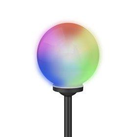 Lauko šviestuvas SUNLUX 8026, su saulės elementais/baterija, plastikinis, įsmeigiamas, RGB keičiantis spalvas, burbulas, 35 x 10 x 10 cm, A170630095, ST