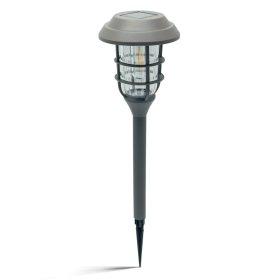 Lauko šviestuvas SUNLUX SA8135, su saulės elementais/baterija, plastikinis, įsmeigiamas, 44,5 x 12 cm, A170630098, ST