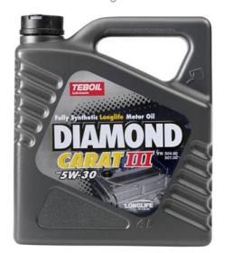 Variklinė alyva TEBOIL DIAMOND CARAT III SAE 5W-30, sintetinė, 4L