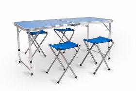 Baldų komplektas AY-ZUO3, stalas, 4 kėdės, turistinis, sulankstomas