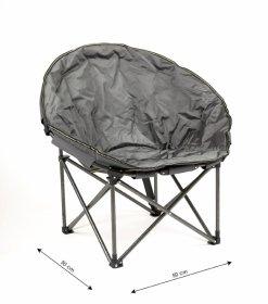 Sulankstoma kėdė  RF-FC04, metalinė, pilka  50x50x80cm