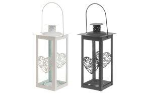 Metalinis žibintas-žvakidė HEART, 19 cm, N