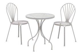 Lauko baldų komplektas 4living sulakstomas stalas 60 x 60 x 70 cm, 2 kėdės 40 x 40 x 87 cm, plienas