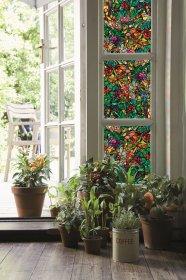 Vitražinė langų plėvelė (su klijais), marga 0,45 x 2 m. D-C-FIX D-C-FIX 346-0647
