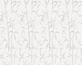 Vitražinė langų plėvelė (su klijais), balta su raštu, 0,675 x 2 m.