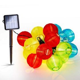 Dekoracija su saulės elementais Sunlux, 3 m., 20 x 1 LED, šilta spalva, SL112