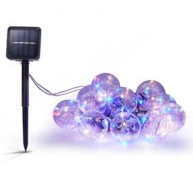 Dekoracija su saulės elementais Sunlux, 3 m., 10 x 1 LED, įvairiaspalvė, SL117