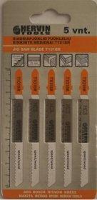 Siauriapjūklio pjūklelių rinkinys medienai HERVIN TOOLS T101BR