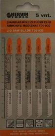 Siauriapjūklio pjūklelių rinkinys medienai HERVIN TOOLS T301CD
