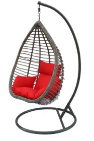 Pakabinamo krėslo su stovu komplektas, 1,28 x 0,95 x 0,70 m., stovas 200 cm., pilkas, apkrova iki 150kg, 200026