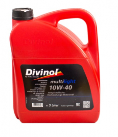 Variklinė alyva DIVINOL 10W-40, SN/CF, Multilight, 5l, pusiau sintetinė