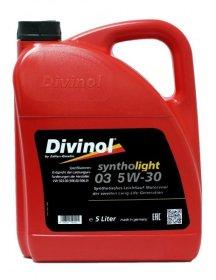 Variklinė alyva DIVINOL 5W-30, Syntholight 03, 5L, sintetinė