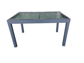 Stalas stačiakampis NOVELLY HOME, EL-T020A, 270 x 75 cm., aliuminis, grūdintas stiklas, pilka, maks. apkrova iki 70kg