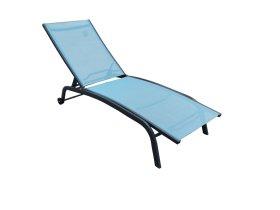 Pliažo gultas NOVELLY HOME, EL-1017S, 188 x 58 x 30 cm., aliuminis, tekstilenas, mėlynas, maks. apkrova iki 160kg