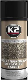 Dažai K2 BUMPER, 400 ml, struktūriniai, juodi