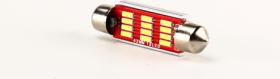 Automobilinė lemputė ALBURNUS T11, 12V/24V, 12SMD CANBUS, LED, 2 vnt, 39 mm