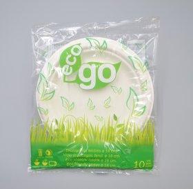 Vienkartinės cukranendrių lėkštės ECO GO 10