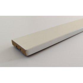 Durų apvadai  JELD-WEN Matmenys 42 x 2200 x 12 mm, durims Style, MDF, balto spalvos, dažyti.