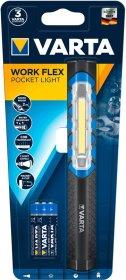 LED žibintas VARTA WORK FLEX , 110 lm, 40 m, 6 val., su magnetiniu laikikliu, komplektacijoje 3 x AA Alkaline elementai, 17647101421