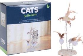 Bokštas - drąskyklė katėms, su kamuoliuku, diametras 14 cm., aukštis 33 cm.