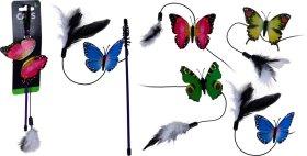 Žaislas katėms drugelis ant virvės NO BRAND 1