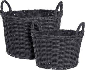 Pintas krepšys, rinkinyje 2 vnt., juodos spalvos
