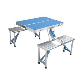 Baldų komplektas AY-ZUO1, stalas, 4 kėdės, turistinis, sulankstomas