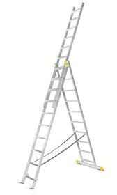 Universalios aliumininės dvipusės kopėčios HERVIN TOOLS (AC0308A) 3x8 pakopų, 215-508 cm.