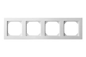 Rėmelis  LIREGUS EPSILON 4 vietų, baltos spalvos, K14-245-04 E/B,