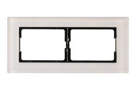 Rėmelis VILMA XP500 2 vietų, baltas stiklas, R02