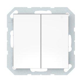 Perjungiklis VILMA QR1000 P(6+6)10-020-02, 2 klavišų, įleidžiamas, baltos sp
