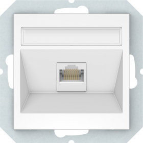 Kompiuterio lizdas VILMA QR1000 KLRJ45-16e2-02, 1 x RJ45, įleidžiamas, 6 kategorijos, baltos sp