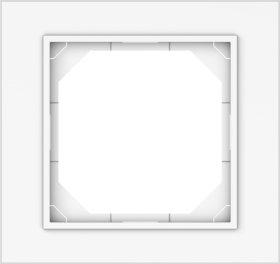 Rėmelis VILMA QR1000 R01, 1 vietos, baltos sp