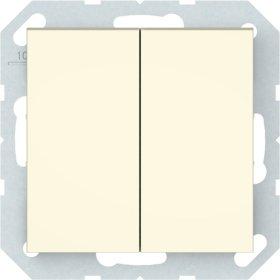 Perjungiklis VILMA QR1000 P(6+6)10-020-02, 2 klavišų, įleidžiamas, dramblio kaulo sp