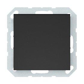 Perjungiklis VILMA QR1000 P610-010-12, 1 klavišo, įleidžiamas, su pašvietimu, matinės juodos sp