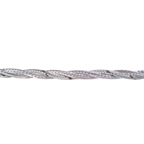 Instaliacinis kabelis ELECTRALINE, tekstilinis, 3*1,0, baltos spalvos, 31201