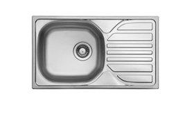 Plautuvė TEKA DEVA 76 x 43,5 cm, plieninė, matinė, su ventiliu, kilmės šalis Vokietija