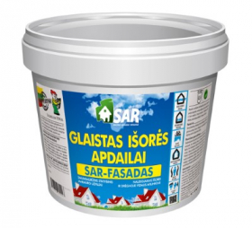 Glaistas SAR-FASADAS, išorei ir drėgnoms vidaus aplinkoms, 1,5 kg