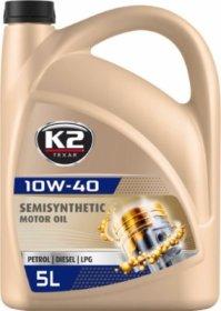 Variklinė alyva K2 10W-40, 5l, pusiau sintetinė