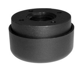 Baldų kojelės, reguliuojamos, d-55 mm, plastikinės, juodos, apkrova - 35 kg, 2 vnt.