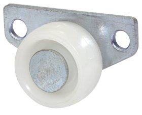 Stalčių ratukas su šonine plokštele d-30 mm, cinkuotas, apkrova - 40 kg.