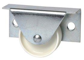 Stalčių ratukas su šonine plokštele d-35mm, cinkuotas, apkrova - 40 kg.