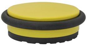 Durų atrama, pastatoma, d-98 mm, aukštis 30 mm, geltona