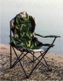 Sulankstoma turistinė kėdė  RF-FC12, metalinė, žalia  58x54x108cm