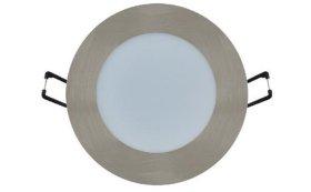 Montuojamas šviestuvas panelė BRILLIGHT, įleidžiama, LED 12 W, 220-240 V, 1020 lm, 3000 K, IP20, apvali, skersmuo 170 mm, chromo sp., 0022443