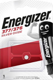 Maitinimo elementai ENERGIZER 377-376, SILVER OXIDE, laikrodžiui, 1 vnt.